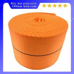 Dây đai polyester bản 100mm màu cam 8 tấn