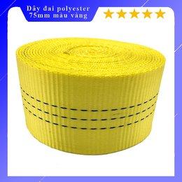 Dây đai polyester bản 75mm màu vàng 8 tấn