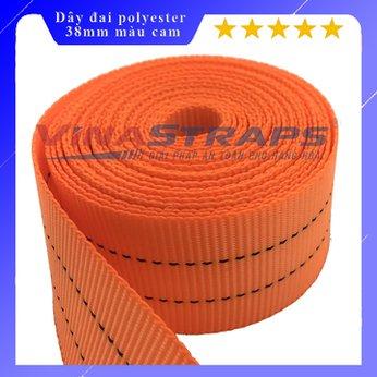 Dây đai polyester bản 38mm màu cam