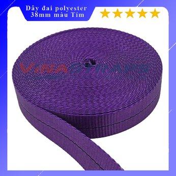 Dây đai polyester bản 38mm màu tím