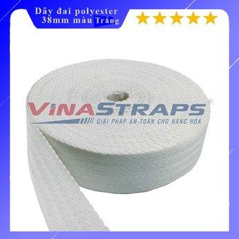 Dây đai polyester bản 38mm màu trắng 2 tấn