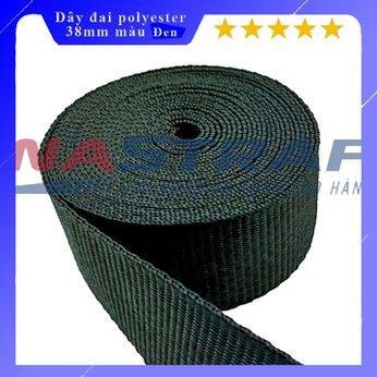 Dây đai polyester bản 38mm màu đen