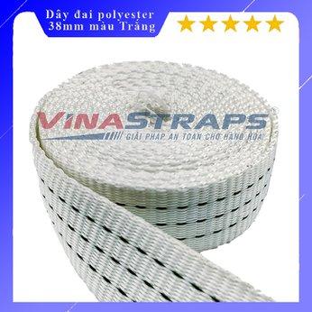 Dây đai dệt polyester bản 38mm màu trắng 2,5 tấn