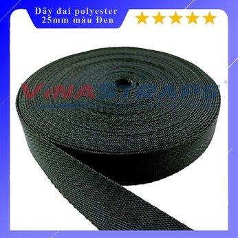 Dây đai polyester bản 25mm màu đen