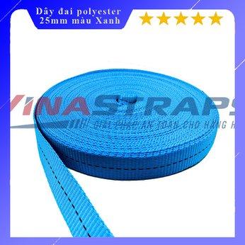 Dây đai dệt Polyester bản 25mm màu xanh