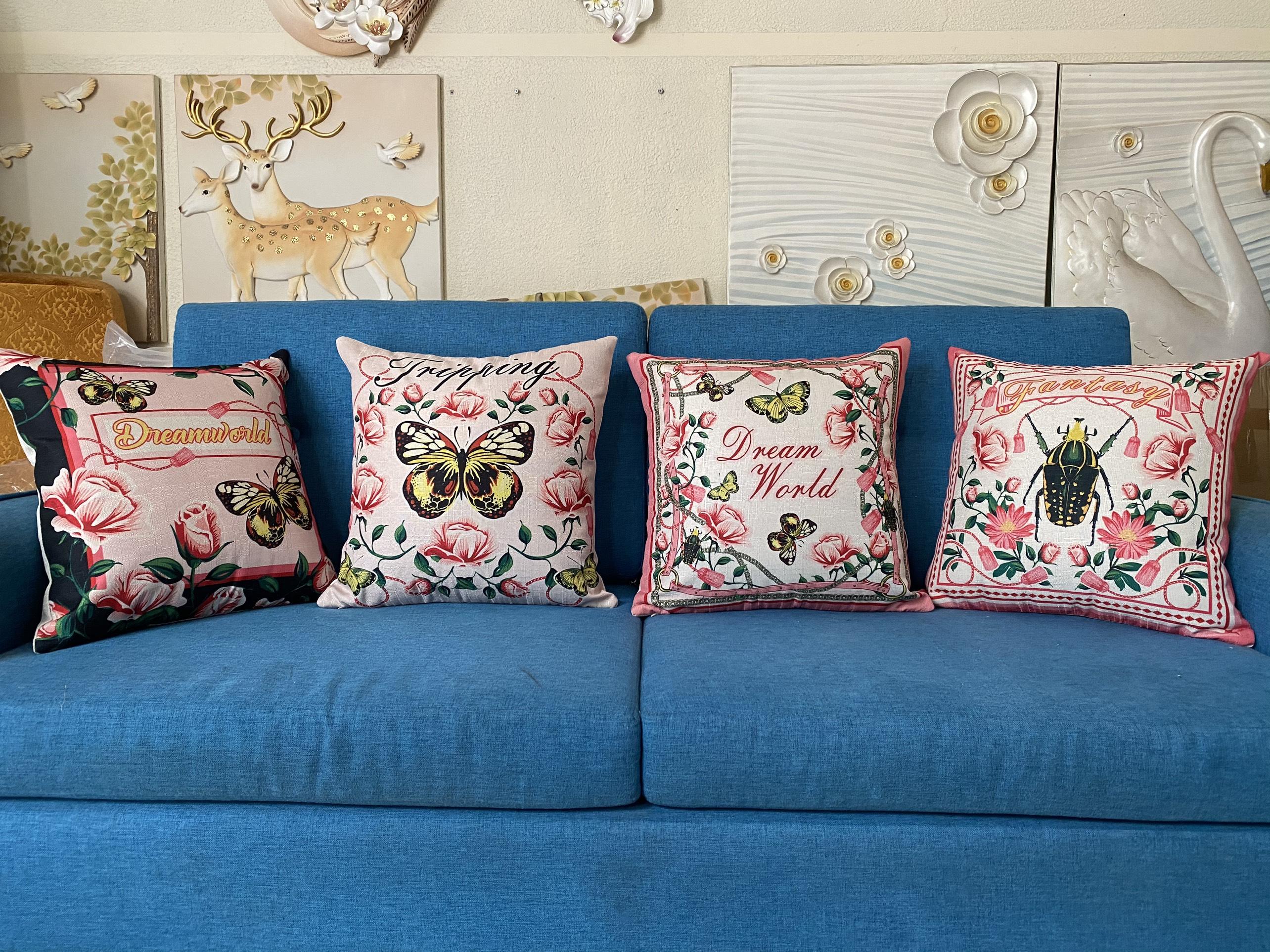 gối tựa lưng, gối sofa, gối trang trí