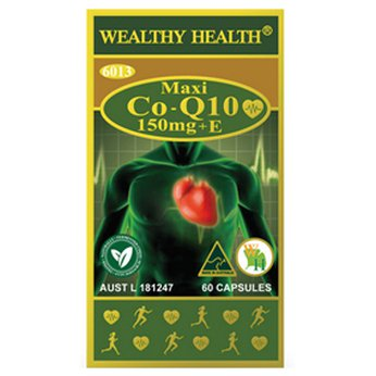 Viên uống Bổ Tim Wealthy Health Maxi Co-Q10 150mg+E