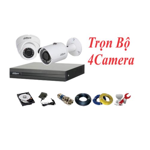 Trọn bộ 4 camera Dahua 2.0mp chất lượng full HD 1080P