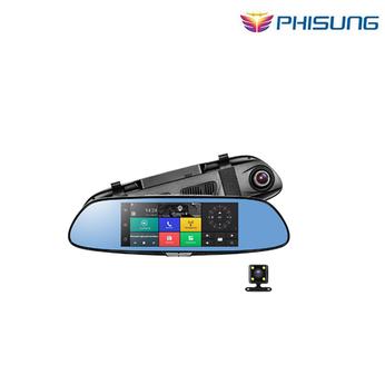 Camera Phisung C08 3G Màn Gương 7 Android 5.0 GPS dvr xe video recorder Bluetooth WIFI Dual Lens gương chiếu hậu Dash Cam