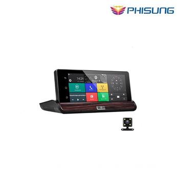 Camera Phisung V50 7 Touch Android 3G Gương Chiếu Hậu DVR GPS WIFI car video recorder auto dash máy ảnh FHD 1080 P Dual Camera ROM 16 GB