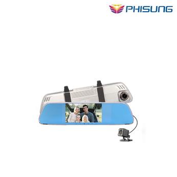 Camera Phisung V25 Dual Lens Camera Gương DVR Xe FHD 1080 P G-Sensor Phát Hiện Chuyển Động Xe gương xe + video camera recorder