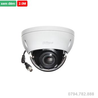 Camera Dahua IPC-HDBW1230EP-S 2.0 Megapixel, IR 30m,Ống kính F2.8mm, MicroSD, PoE, Onvif