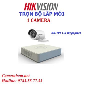 Lắp đặt trọn bộ 1 camera quan sát Hikvision 2.0mp