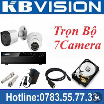 Trọn Bộ 07 Camera Kbvision 2.0MP