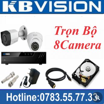 Trọn Bộ 08 Camera Kbvision 2.0MP