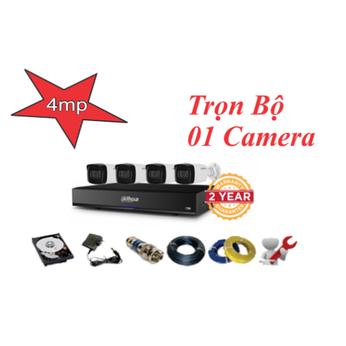 Trọn bộ 01 camera dahua 4.0mp