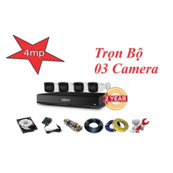 Trọn bộ 03 camera Dahua 4.0mp