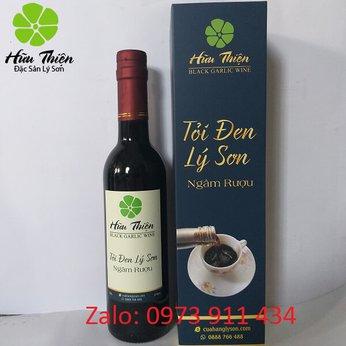 Rượu tỏi đen Hữu Thiện 375ml