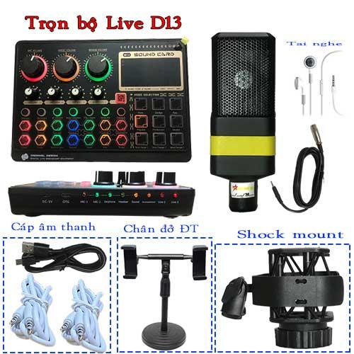 Bộ thu âm Livestream D13 giá rẻ