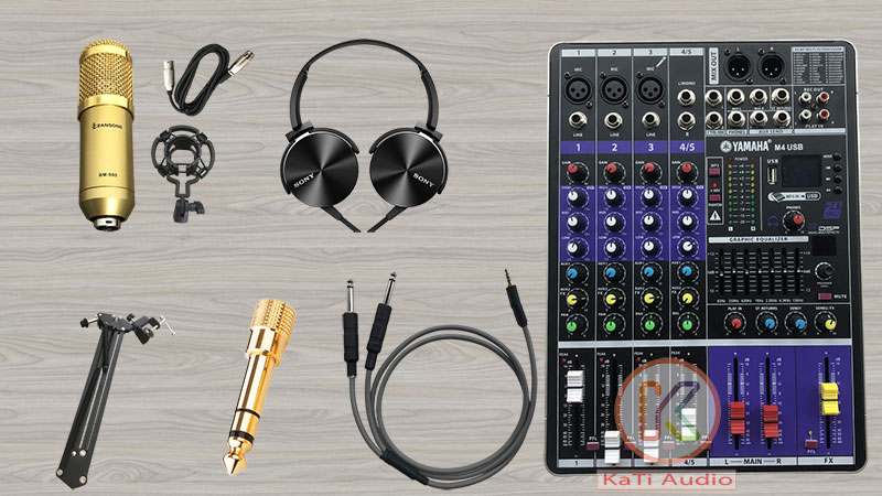 Hát livestream hay | Micro hát livestream | Trọn bộ mixer M4 usb năm 2021