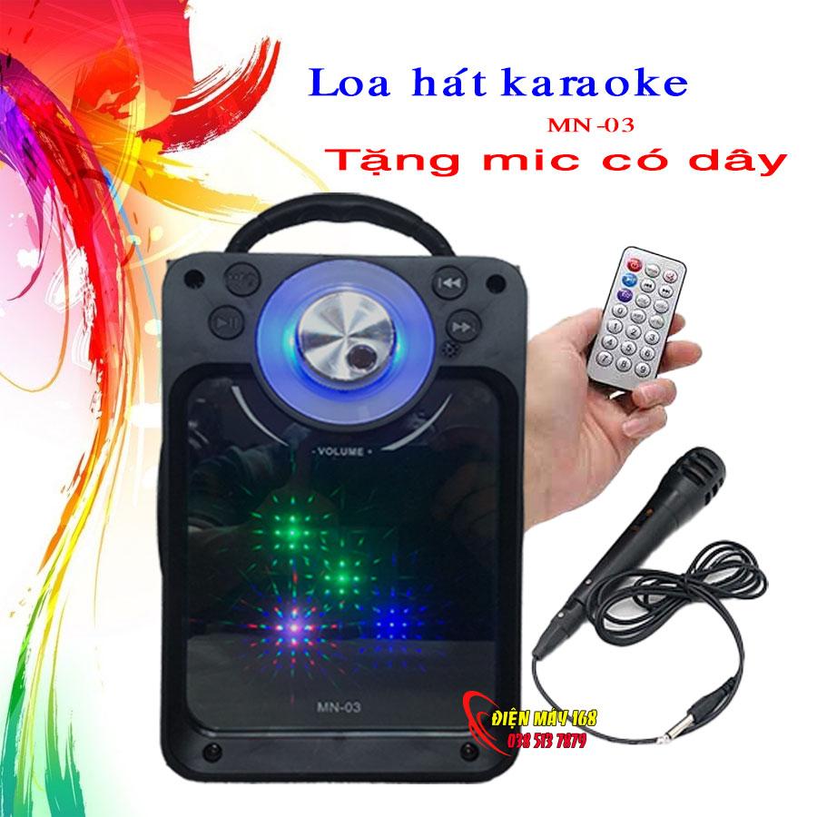 Loa hát karaoke mini mn03 tặng mic có dây