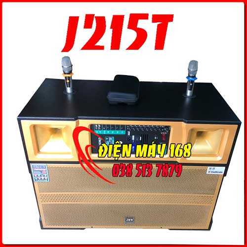Loa kéo di động jmw J215T Bass Đôi 4 Tấc Thùng Gỗ