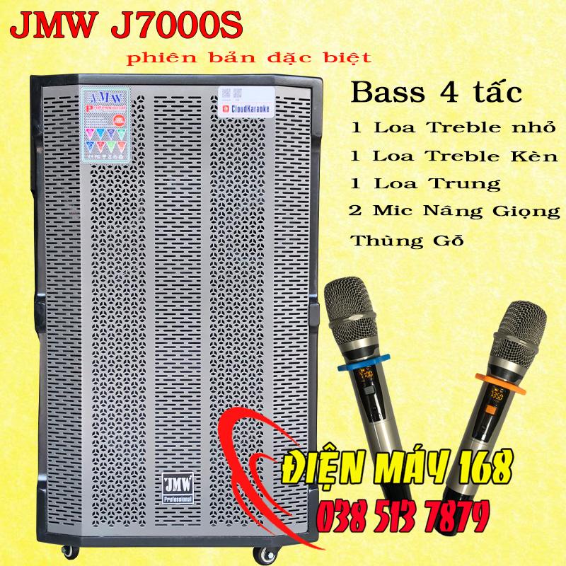 Loa kéo di động jmw J7000s Bass 4 tấc thùng gỗ
