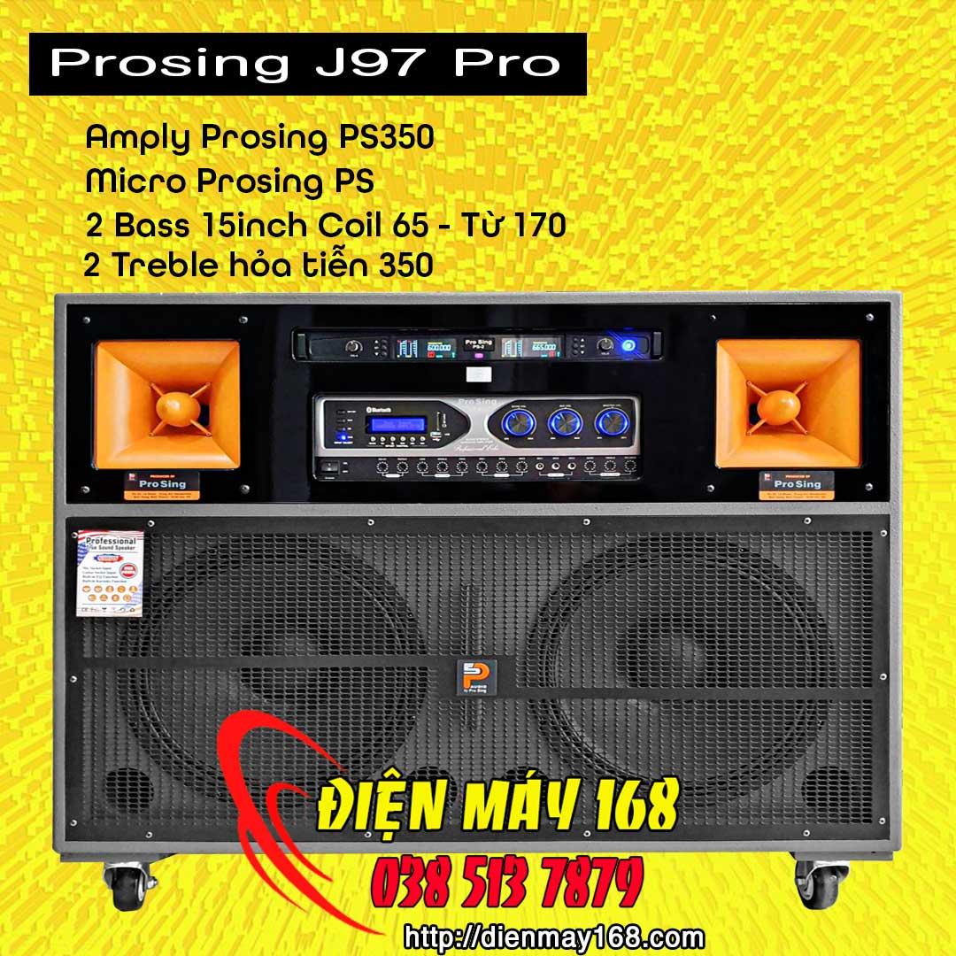 Loa kéo tủ Prosing J97 Pro chính hãng