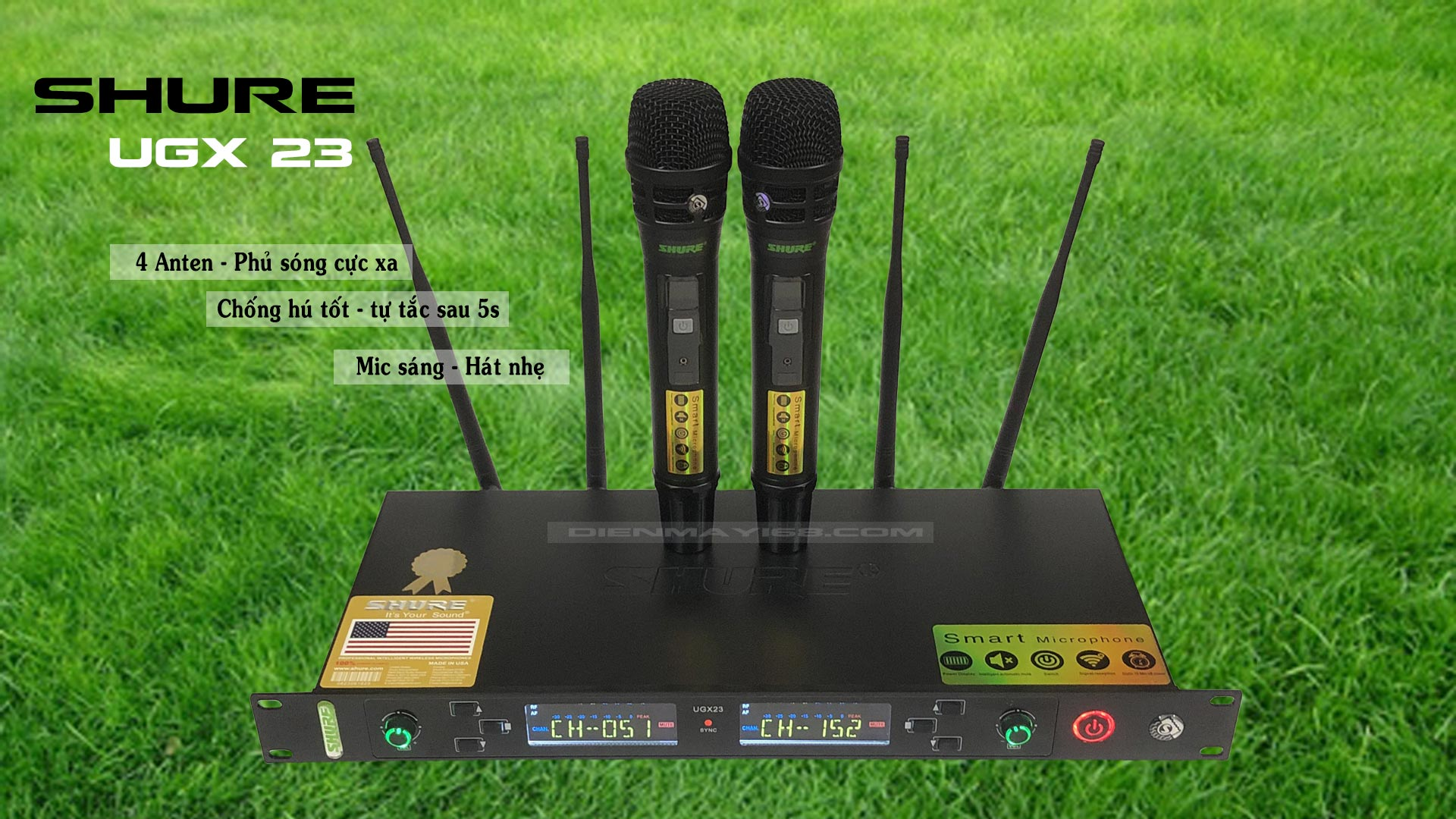 Micro không dây Shure UGX23 Loại 1