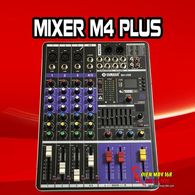 Mixer m4 plus 100 hiệu ứng có bluetooth và usb livestream