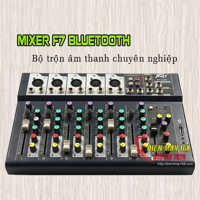 Trọn bộ livestream Mixer F7 Bluetooth và Micro Không Dây Qm-222
