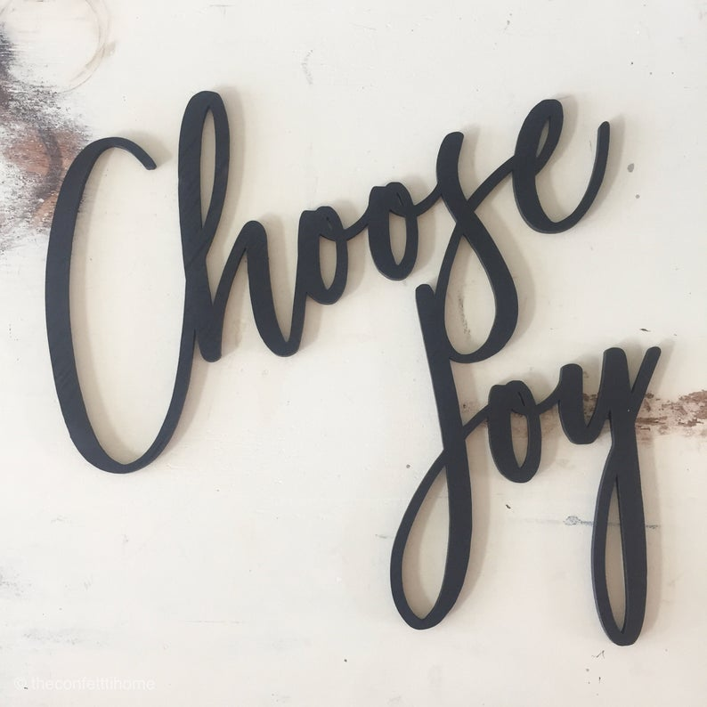 Sắt mỹ thuật Laser CNC trang trí ốp tường Choose Joy