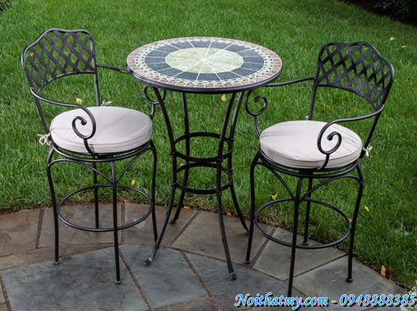 Oval Wrought Iron Patio Table Images Low Mirrored Coffee