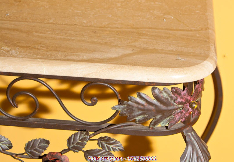 Tables wrought iron painted beautiful antique European