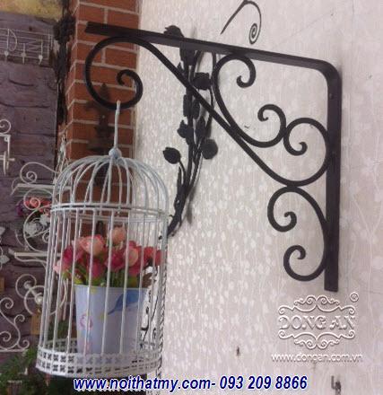 Artistic iron flower hanger DA14-EKE01
