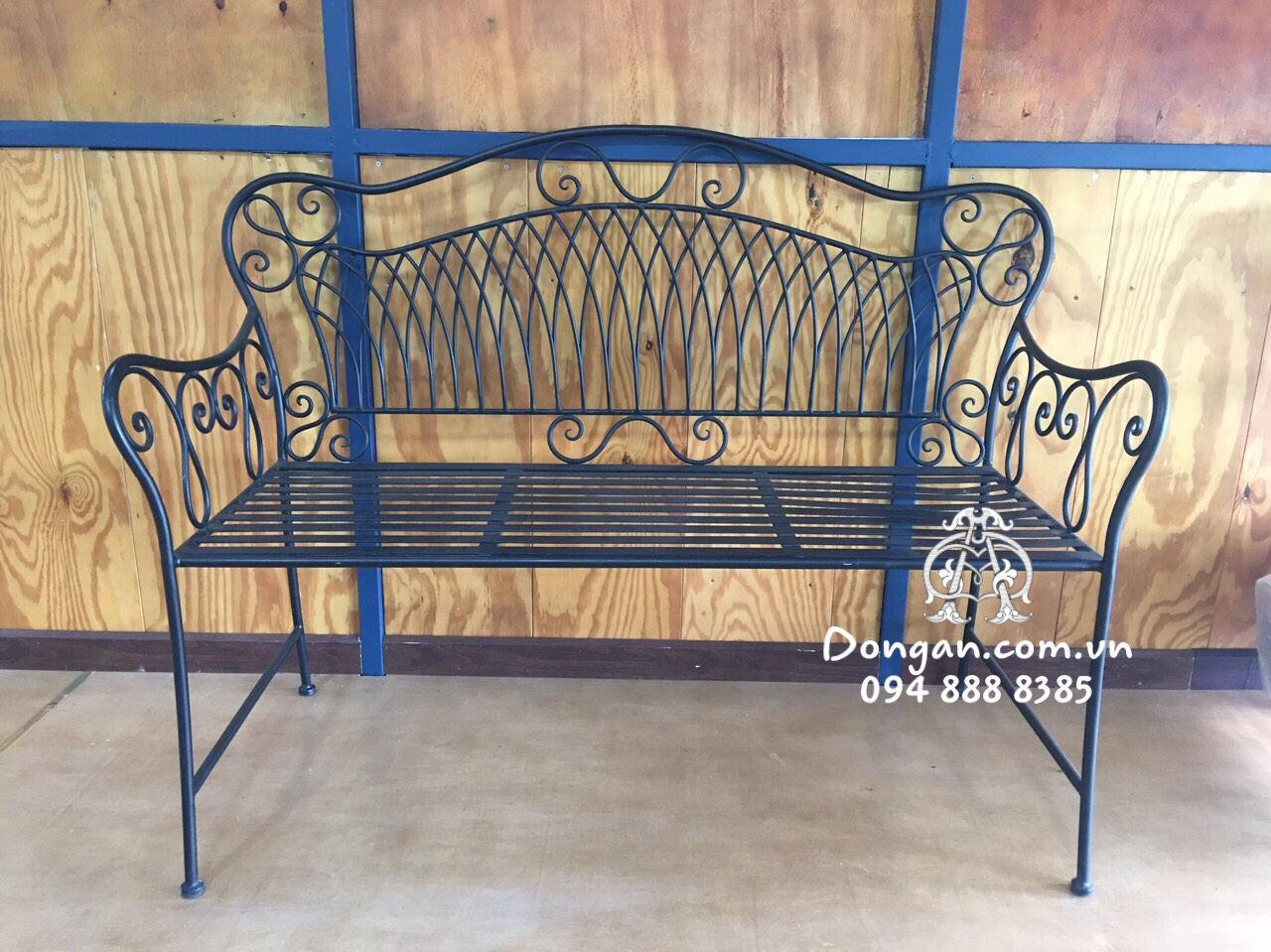 2 Seater Outdoor Iron Bench