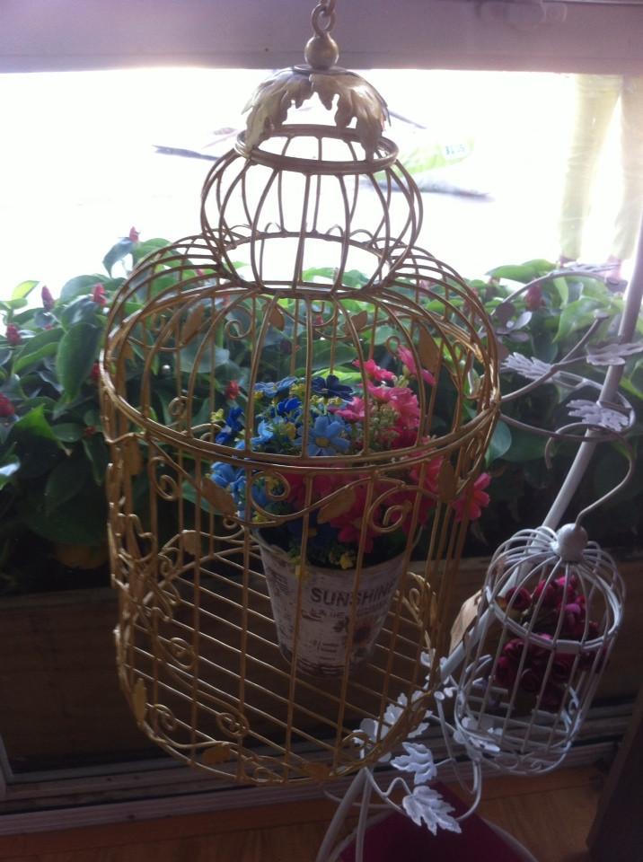 Decorative iron birdcage