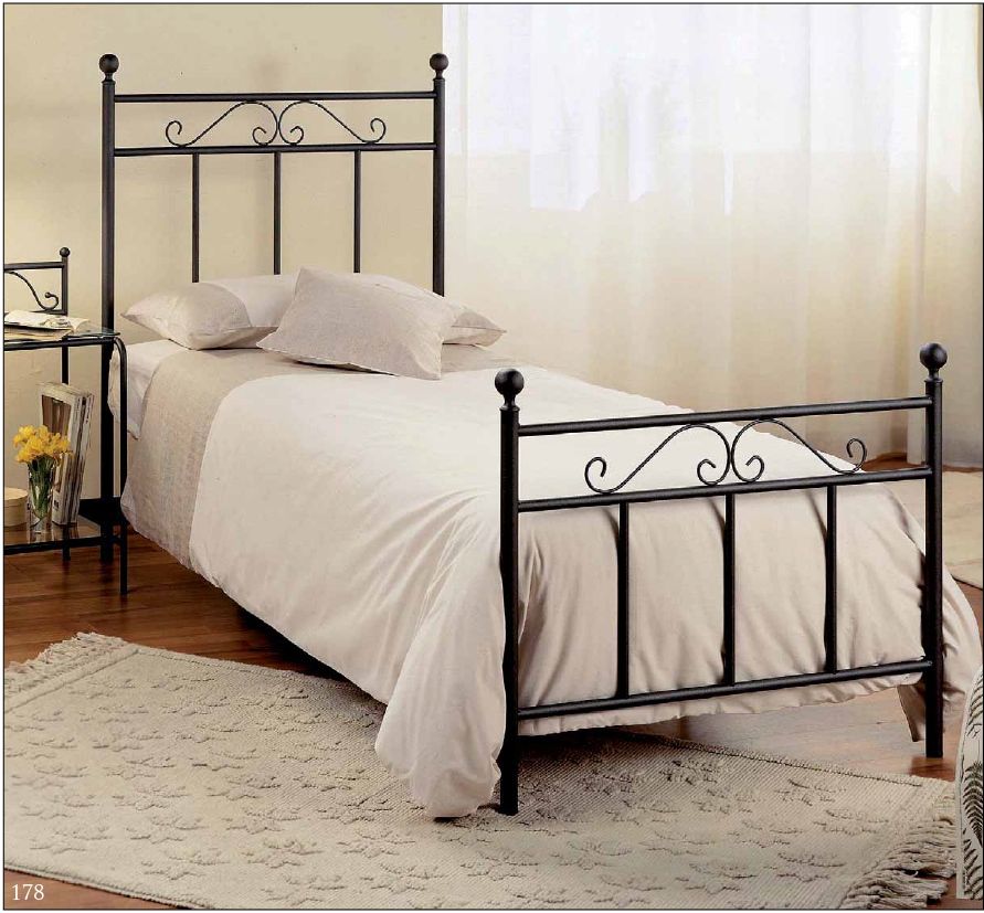Sample single iron bed for a small room for Beds for small rooms
