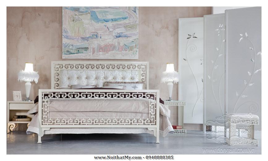 Giường sắt nghệ thuật Lucky