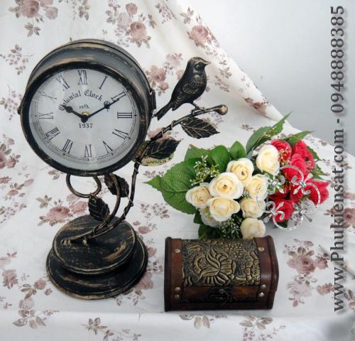 Đồng hồ trang trí sắt mỹ thuật Đông Ấn DAD-01