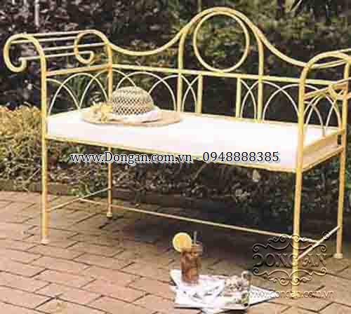 Ghế dài sắt nghệ thuật Đông Ấn DAG-10