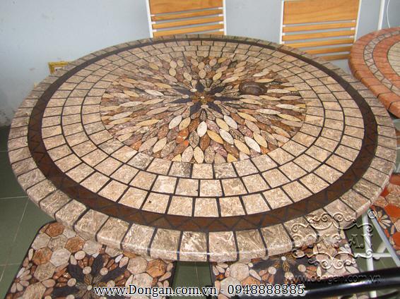 Mặt bàn đá mosaic DA13-MO23