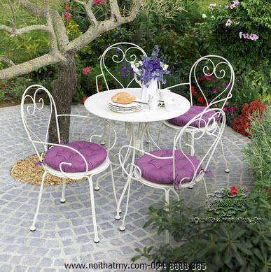 Bàn ghế cafe sắt ngoài trời thiết kế 2015 DA14-CC01