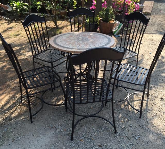 Iron wrought art garden furniture