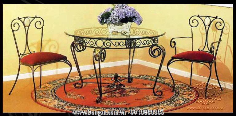 Bàn ghế sắt uốn đẹp DA13-BG01