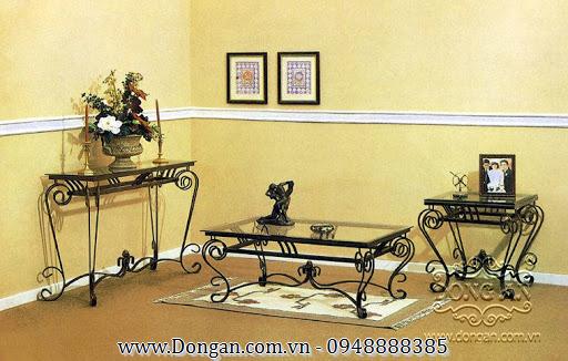 Beautiful curling iron sofa table