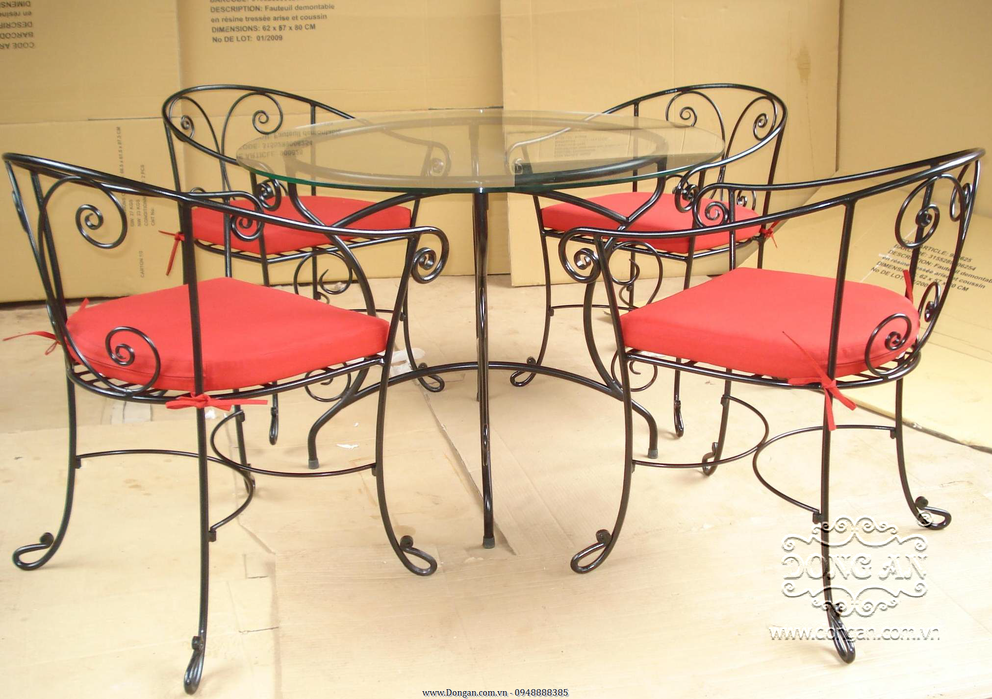 The beautiful garden furniture