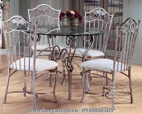 Bàn ghế sắt uốn đẹp DA13-BG13