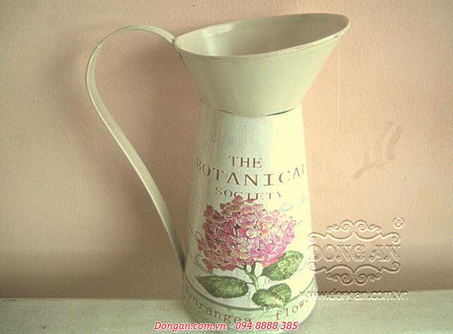 Chậu hoa trang trí bằng tole, kẽm DA13-CN04