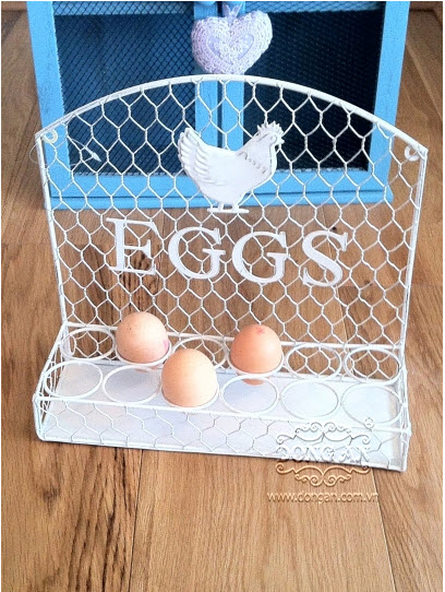 Iron racks for egg art